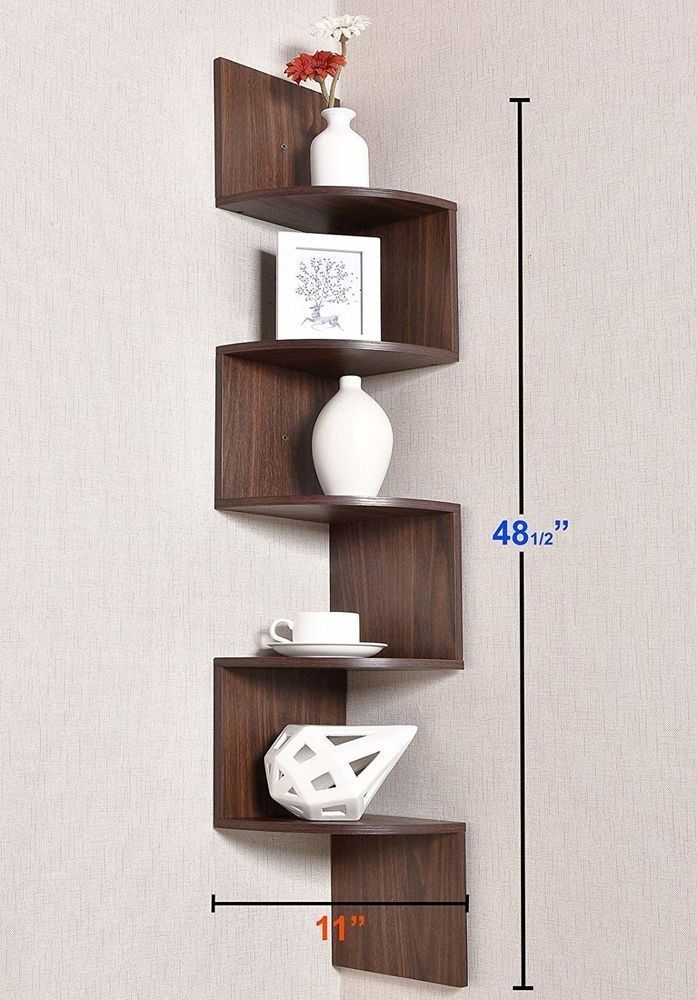 20 Comfy Corner Floating Shelves Design Ideas To Beautify Your Room Corner Wall Mounted Corner Shelves Wooden Corner Shelf Corner Wall Shelves