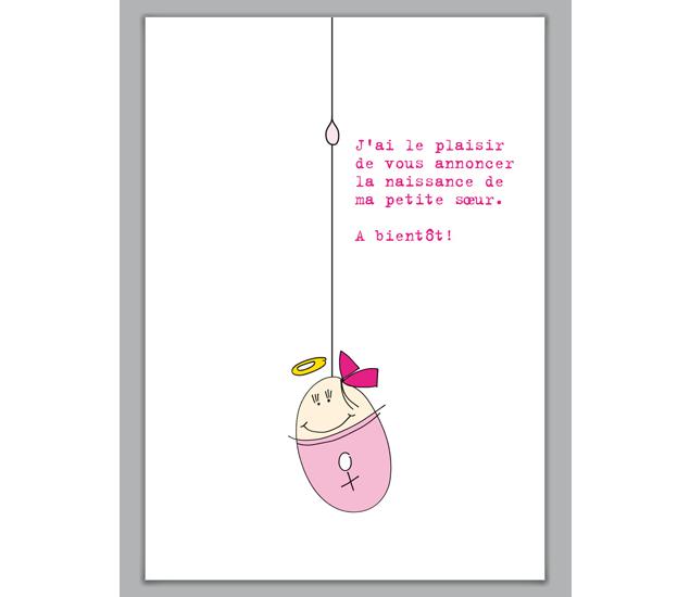 Lustige französische Geburtsanzeige: J'ai le plaisir de ...
