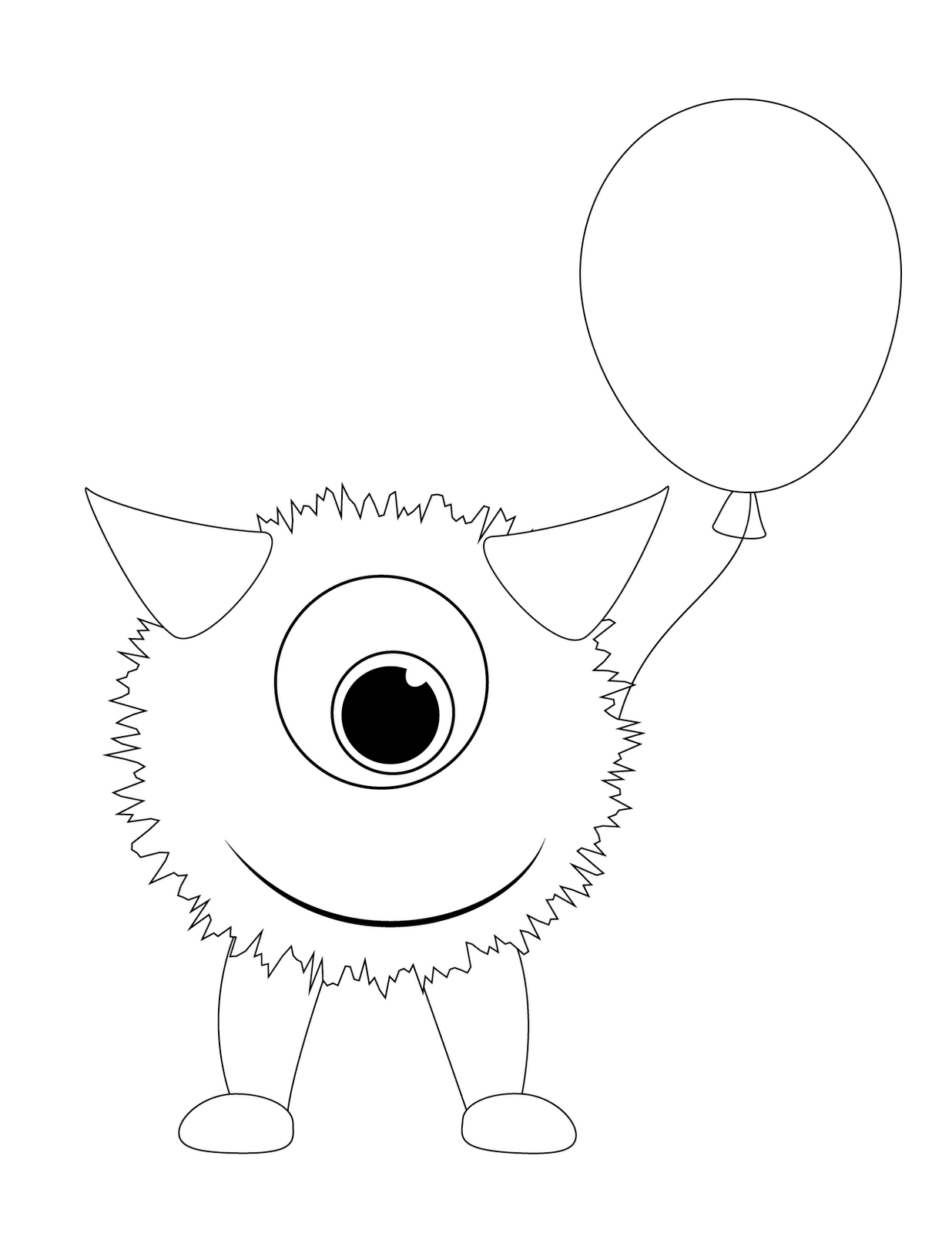 monster outline coloring pages - photo#32