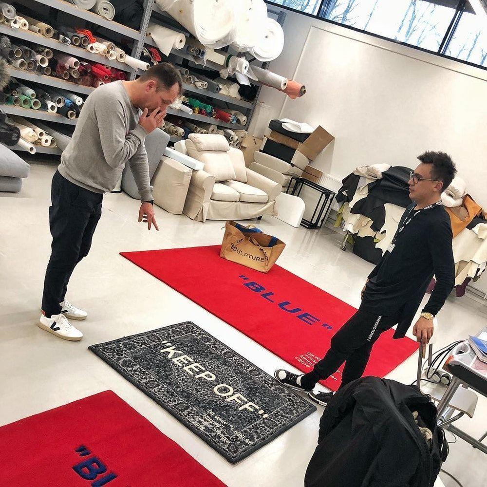 Off White X Ikea Collaboration Rug Bag Virgil Abloh Ikearugs