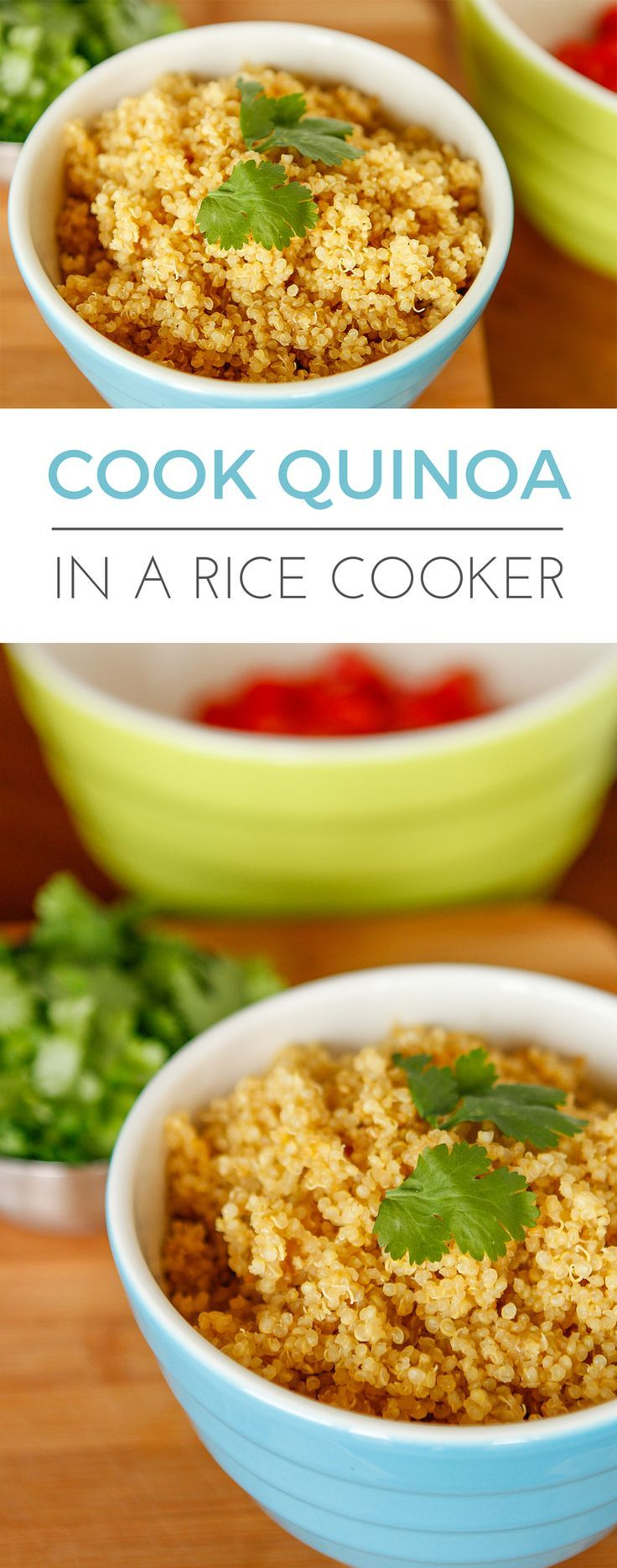 How to Cook Quinoa in a Rice Cooker -- yep, rice cookers are good for more than just rice… They make preparing delicious quinoa simple and easy too! | via @unsophisticook on unsophisticook.com #ricecookermeals