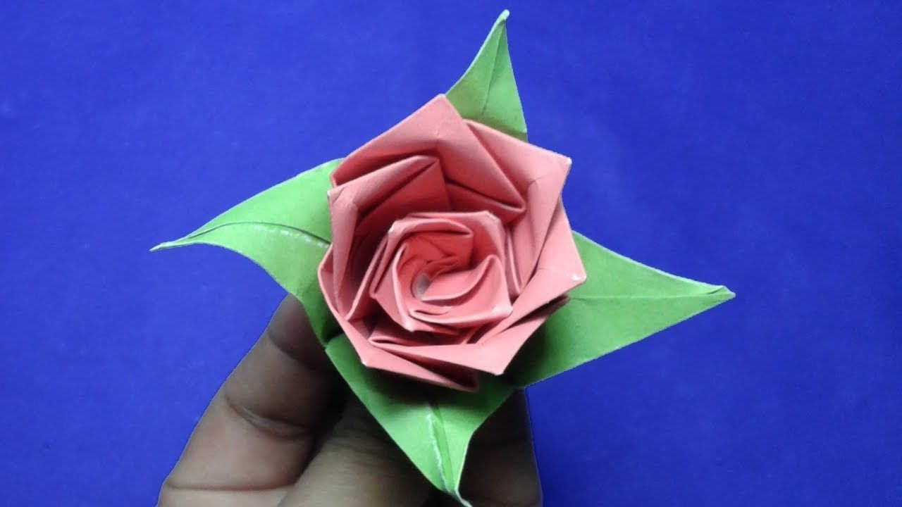 Paper Flowerhow To Make Origami Paper Flower Rose Setp By Step