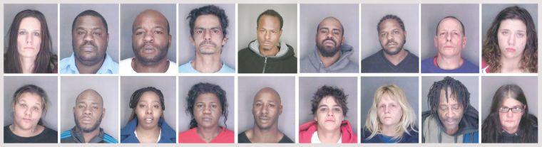19 Arrested in Dec. 20 drug raids  Pictured top row, left to right: Heather L. Allen, 32, of Hudson; Rodney E. Branton, 41, of Hudson; Lamar Carter, 31, of Hudson; Hector Louis Davilla, 49, of Hudson; Ernest Hartfield, 38, of Hudson; Brandon Hicks, 26, of Hudson; Lavone Leroy McClendon; John H. Miner, 47, of Catskill; and Michelle Lee Moskaluk, 24, of Hudson.