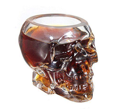SMO Verre Alcool Tete Mort Head Shot Skull Glass Crane Cristal Coupe ...