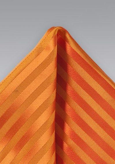 Ziertuch orange Streifendesign