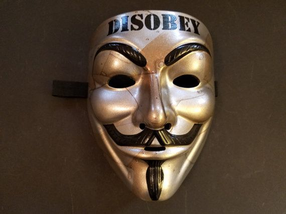 Items Similar To Disobey 2 0 Custom Anonymous Guy Fawkes Mask On