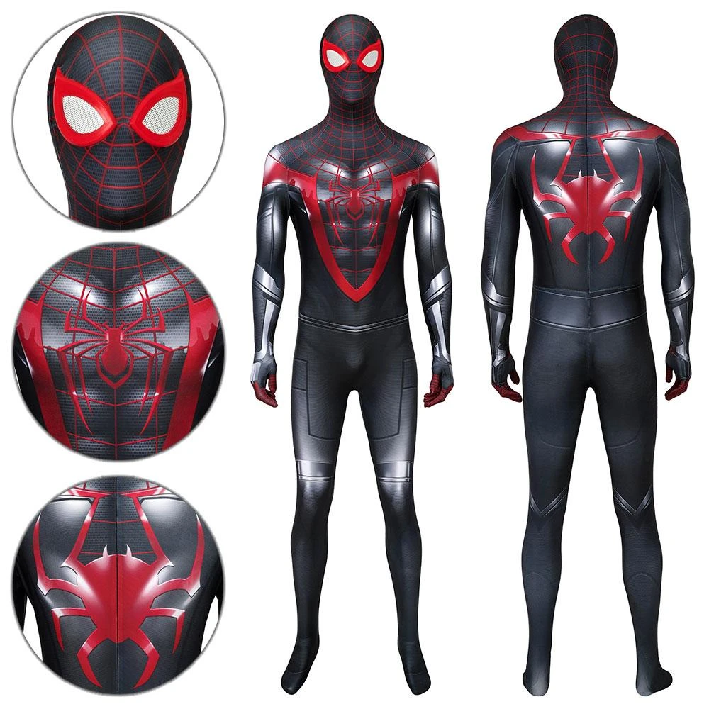 Spider Man Miles Morales Advanced Suit Ps5 2021 Spider Man Miles Mora Wcosplay Miles Morales Spiderman Spiderman Cosplay