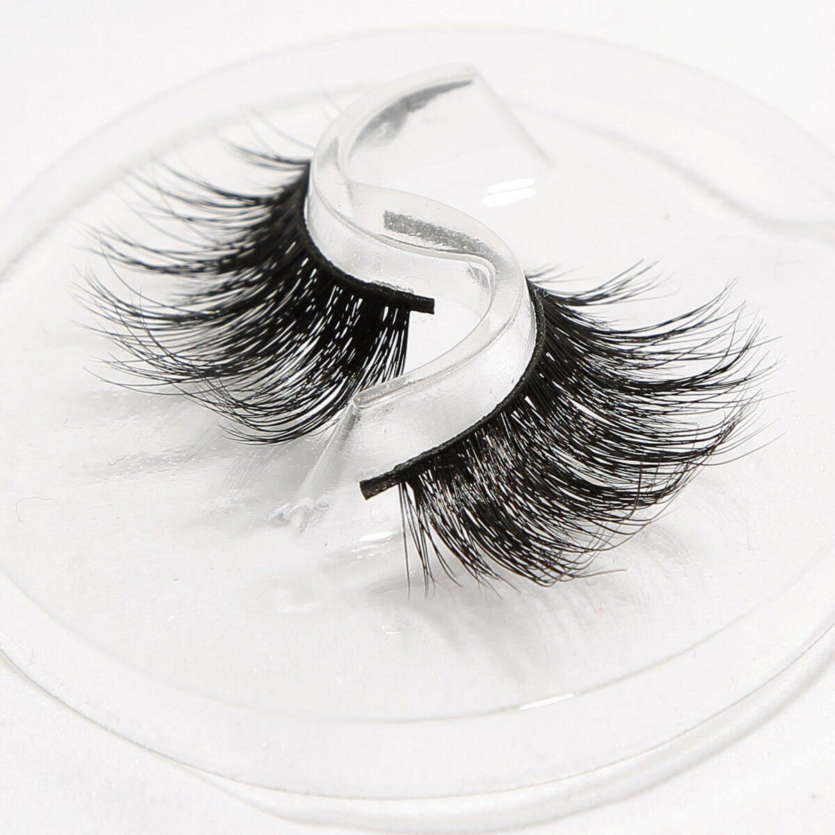 8f02247369d Flipped Reusable False Eyelashes 3D Mink Long Wispies for Makeup Handmade 1  Pair Package. 1