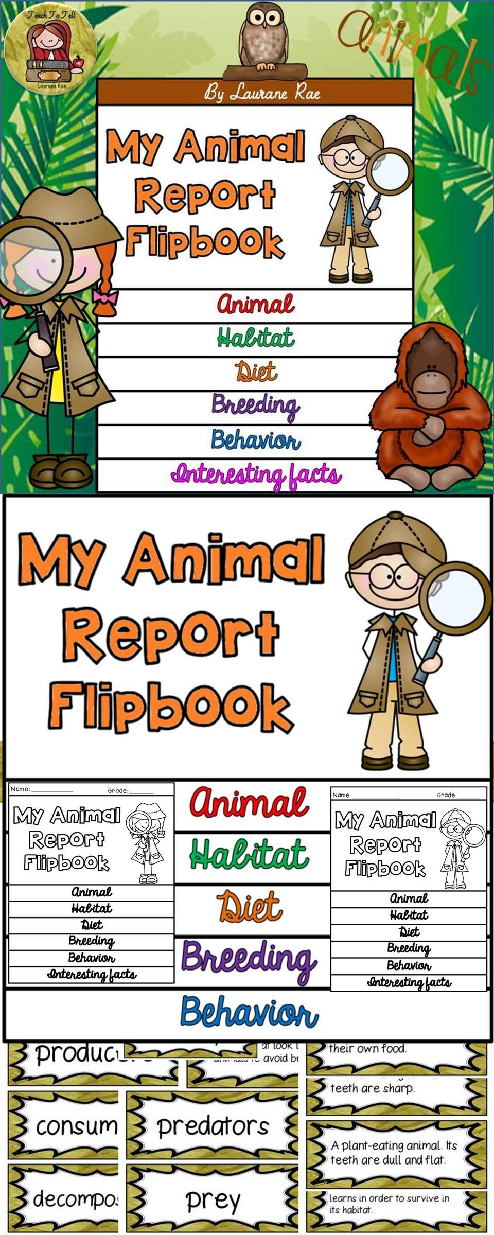 ANIMAL REPORT PRINT & DIGITAL RESEARCH TEMPLATES GOOGLE