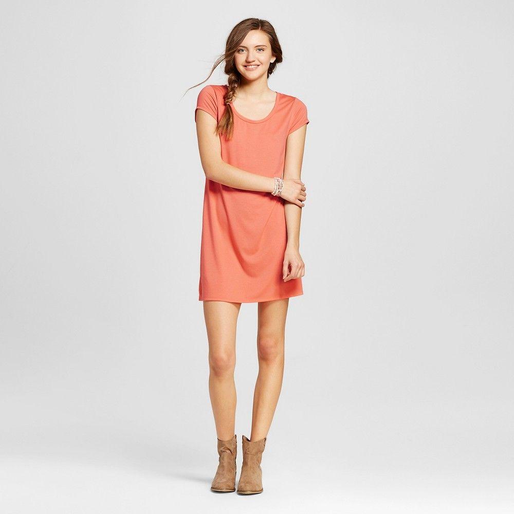 Womenus short tshirt dress pink xl mossimo supply co pink xl