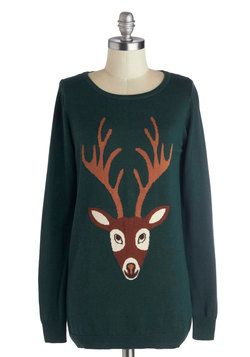 From Deer to Eternity Sweater, #ModCloth  This sweater is so cute. Why does it have to be too expensive for me?!