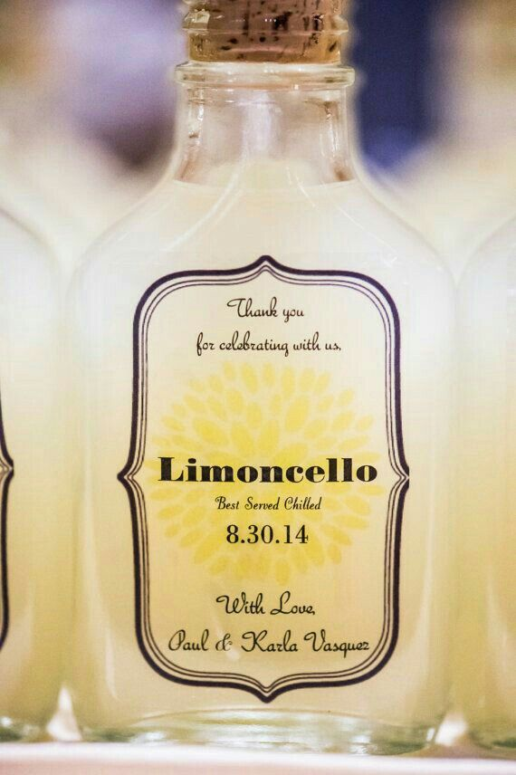 Limoncello Label Bottle Label For Avery 8163 Wedding Limoncello 2x4inches Limoncello Favor Names /& Date are EDITABLE Print Yourself
