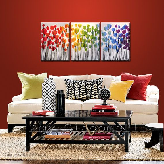colorful Art Pinterest Regenbogen malerei, Regenbögen und Blüten