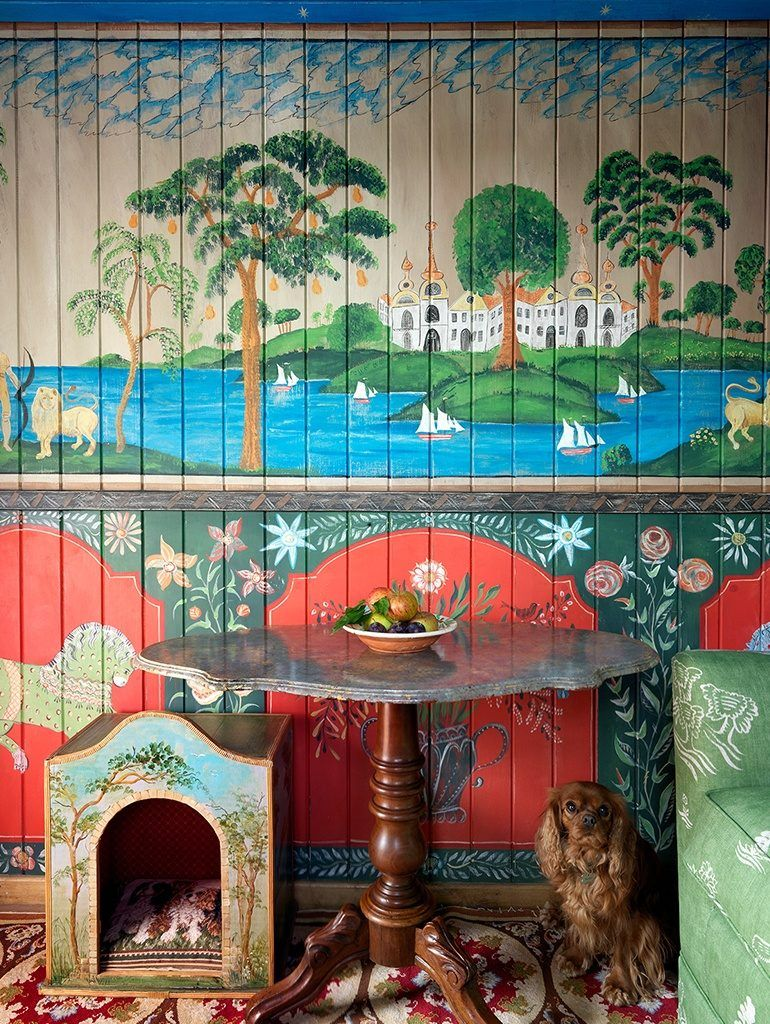 Kit Kemp Unveils Her Charming Shepherd S Hut Katie Considers Shepherds Hut Mural Painting