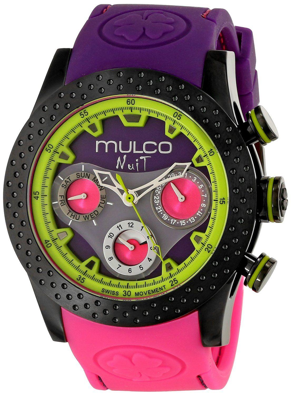 8016ff77723 MULCO Unisex MW5-1962-685 Analog Display Swiss Quartz Pink Watch ...