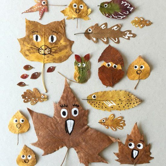 """Fall"" in Love With This Leaf Craft #leafcrafts"