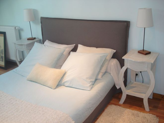 Une t te de lit en tissu modulable t te de lit en tissu - Faire une tete de lit en tissus ...