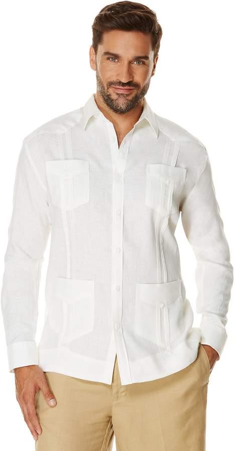 cba7e3b1b5 Big   Tall 100% Linen Long Sleeve 4 Pocket Guayabera