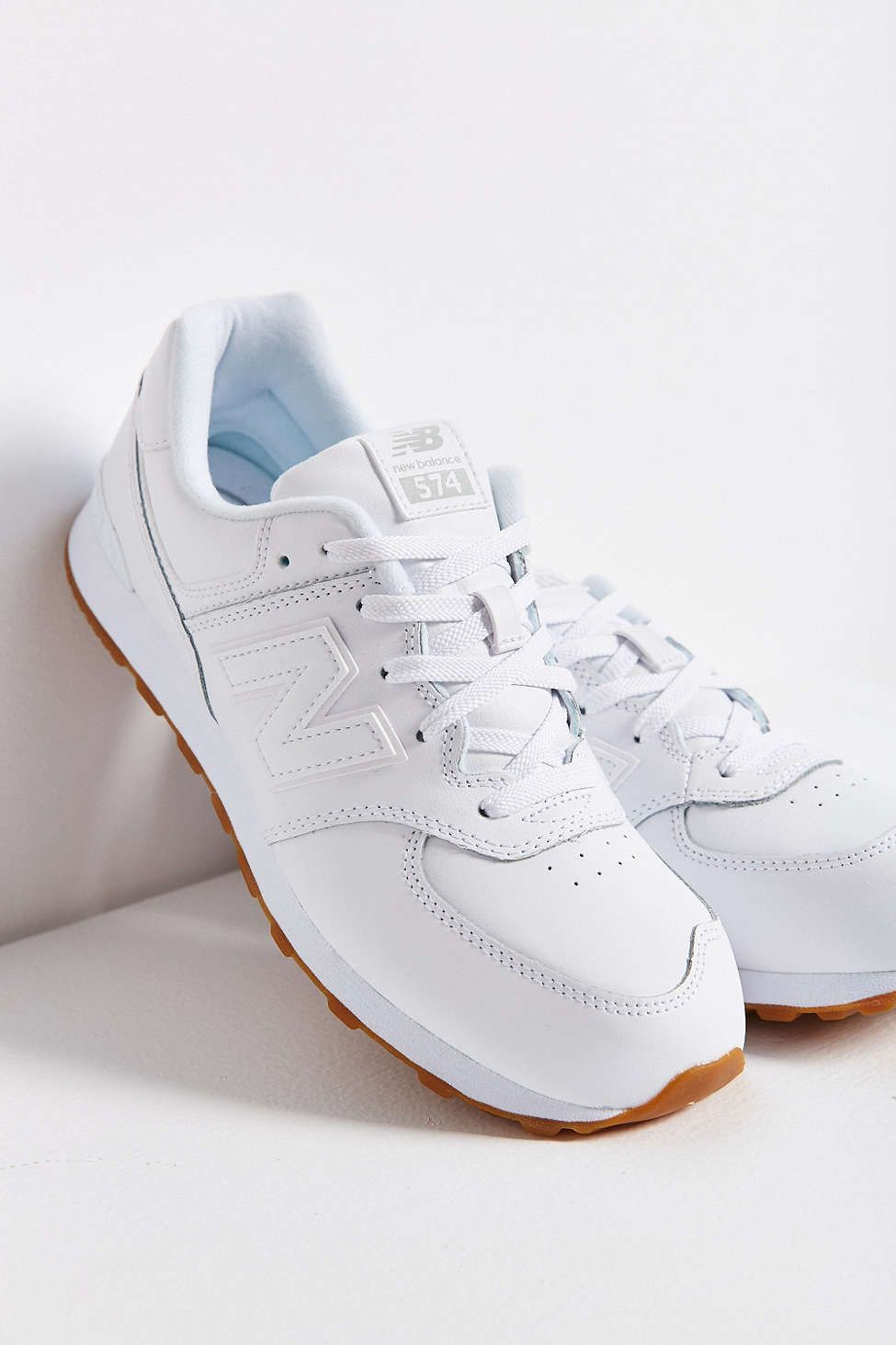 new balance 574 leather blanche