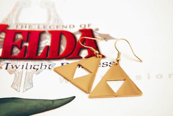 Zelda Triforce Earrings by shadowlink11 on Etsy, $20.00