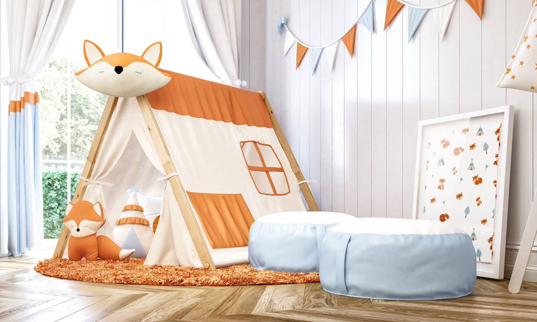 A Cabana Quarto De Beb Raposinha Laranja Traz O Estilo L Dico  ~ Quarto Infantil Verde Com Quarto Preto E Laranja