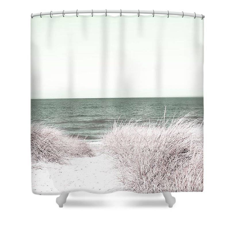 Fabric Shower Curtain Beach Lake Michigan Color Blue Beach House Bathroom Urban Decor Ba With Images Beach Shower Curtains Fabric Shower Curtains Curtains For Sale