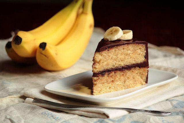 Banana Cake with Chocolate Glaze by pastryaffair, via Flickr