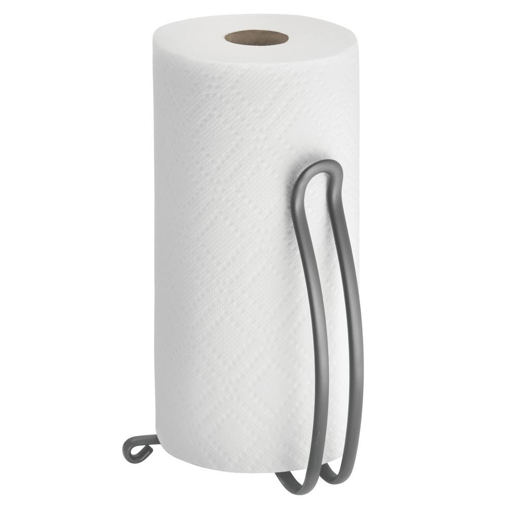 Metal Curved Design Free Standing Paper Towel Holder In Graphite X X By Mdesign Paper Towel Rolls Paper Towel Rolls Toilet Paper Toil Coisas Para Comprar