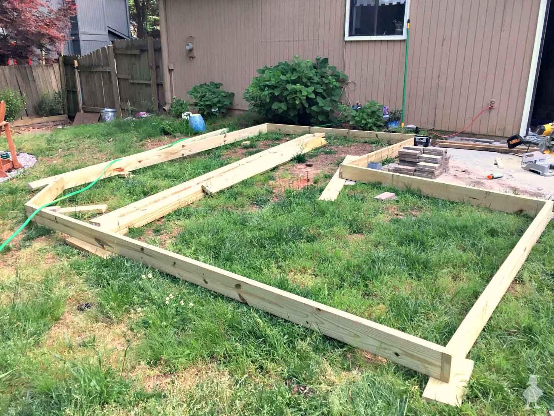 Diy Floating Deck Part 2 Frame Waterproofing Floating Deck Building A Deck Building A Floating Deck