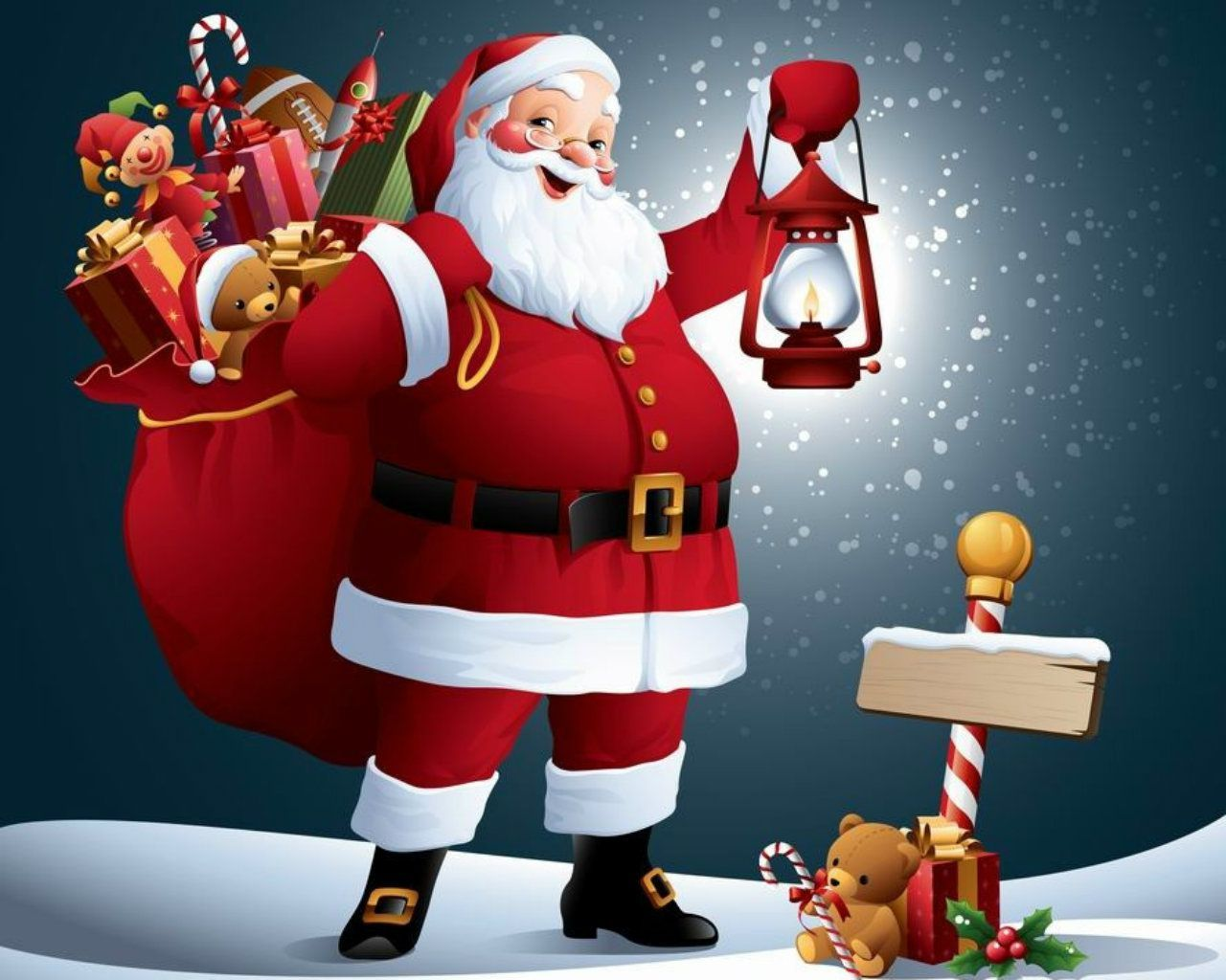 Animated Santa Claus Images Free Merry Christmas Navidad
