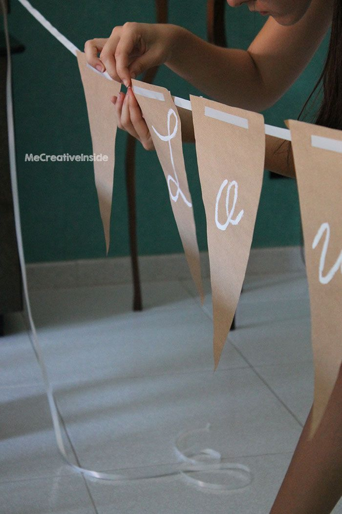 tutorial diy fai da te festone garland love matrimonio decorazione ME creativeinside