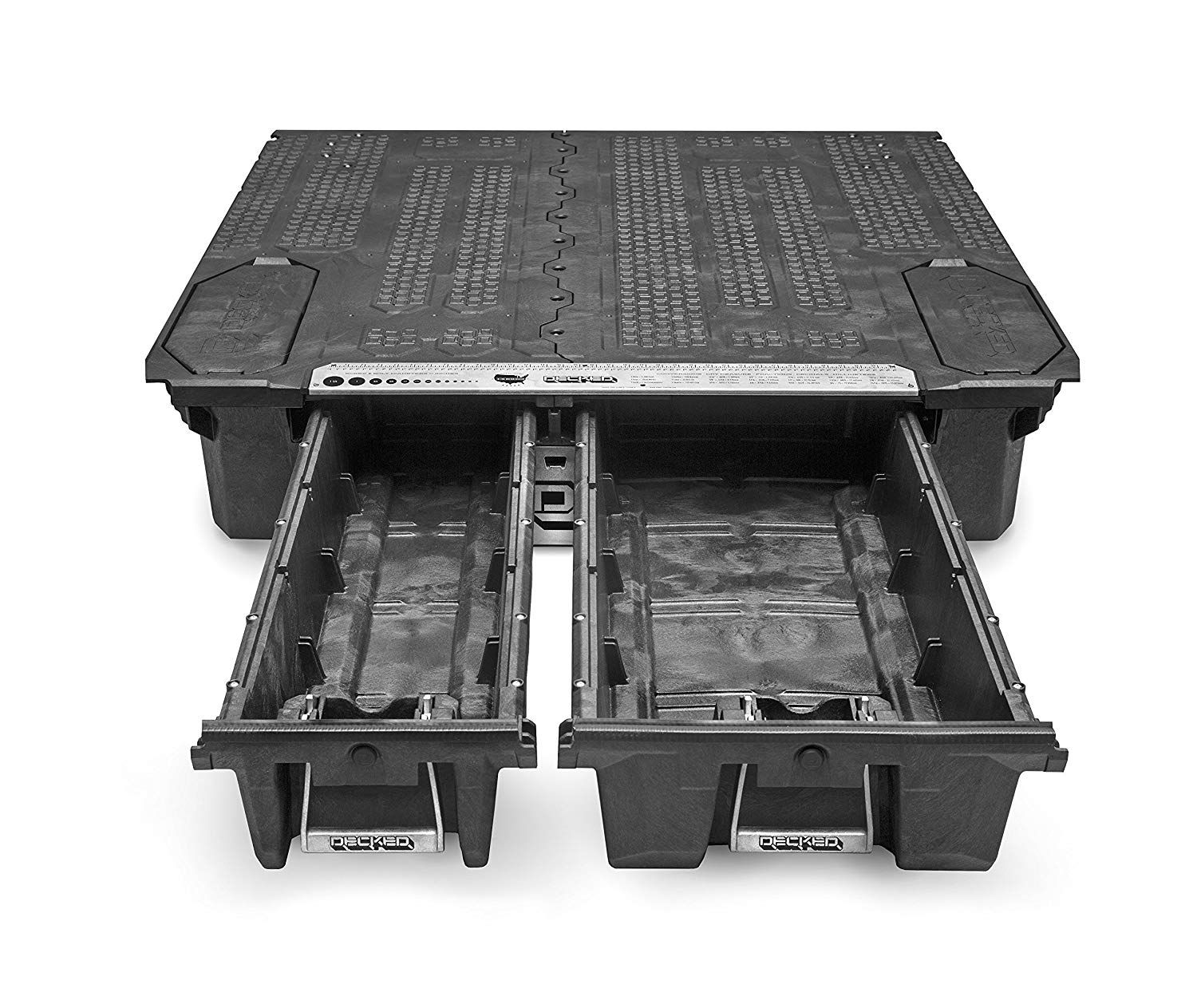 The DECKED invehicle storage system offers secure