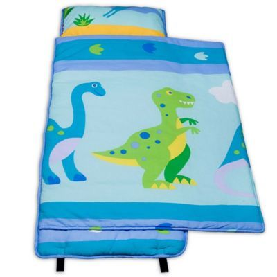 Olive Kids Dinosaur Land 100 Cotton Nap Mat In Blue Kids Nap