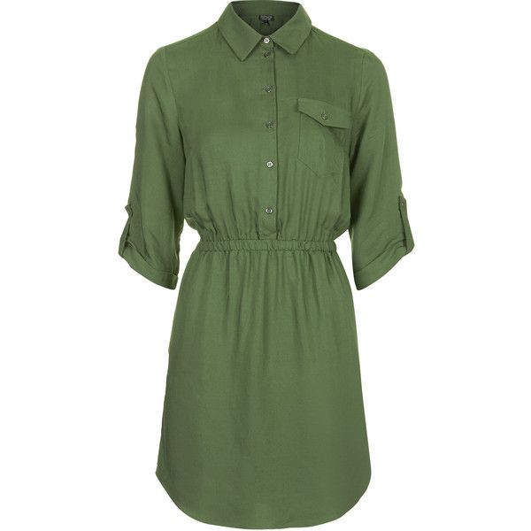 discover latest trends quality and quantity assured great discount for TOPSHOP Utility Twill Shirt Dress ($40) ❤ liked on Polyvore ...