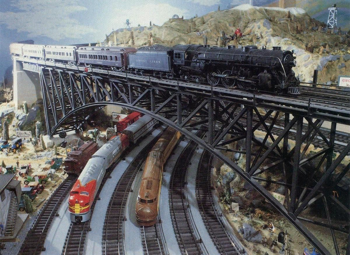 Vintage Lionel O Gauge Layouts Outside Third Rail O