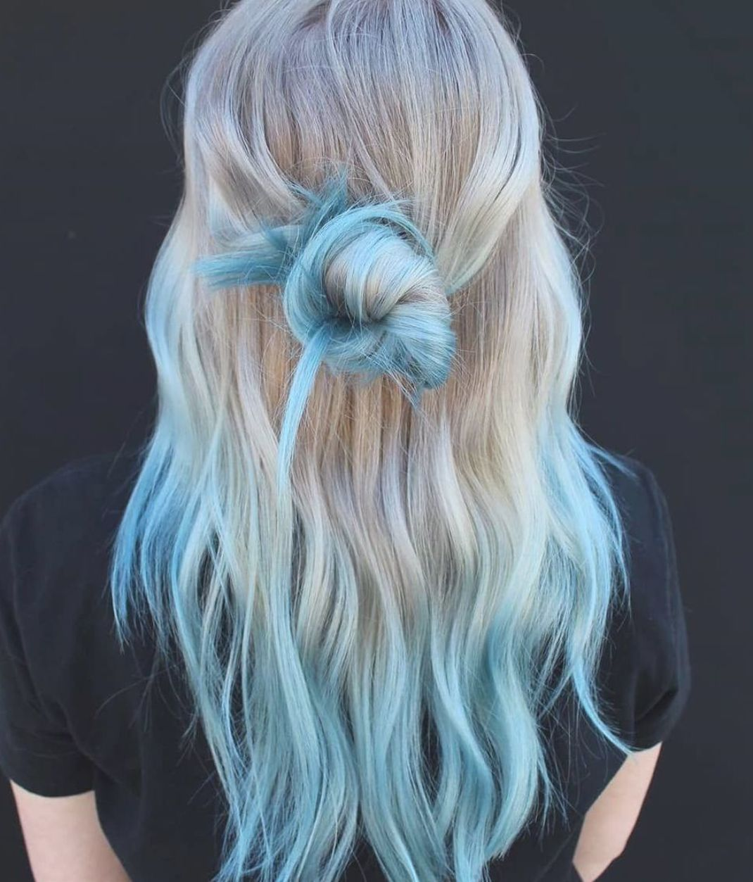 30 Cool Hair Colors To Try In 2019 A Fashion Star In 2020 Blue Tips Hair Blonde And Blue Hair Hair Dye Tips