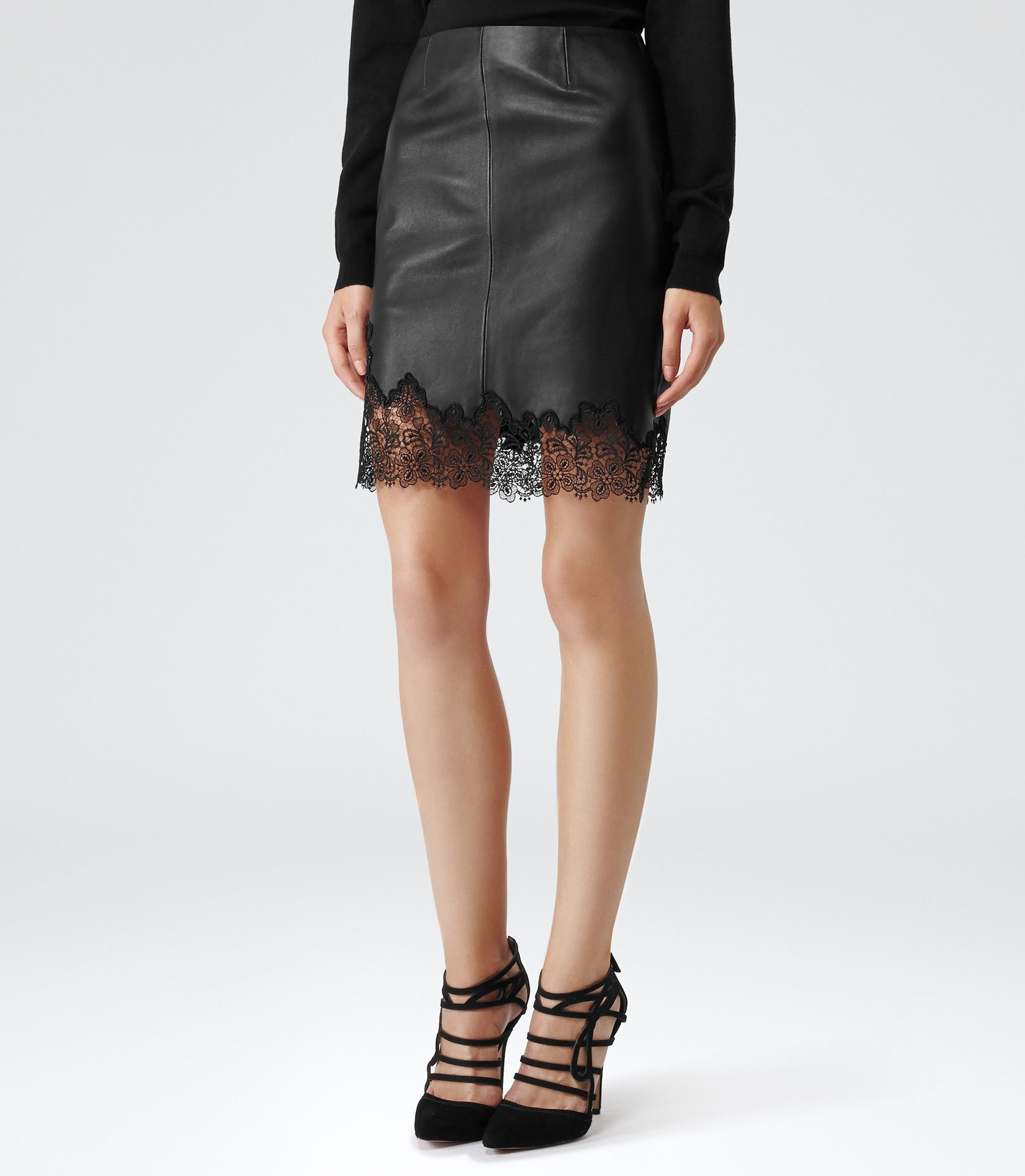Hiro | Leather skirts, Lace and Skirts