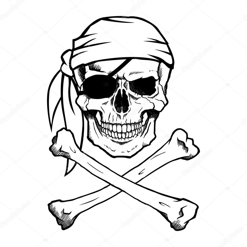 Download Jolly Roger Pirate Skull And Crossbones Stock Illustration 68275549 Pirate Skull Pirate Skull Tattoos Skulls Drawing