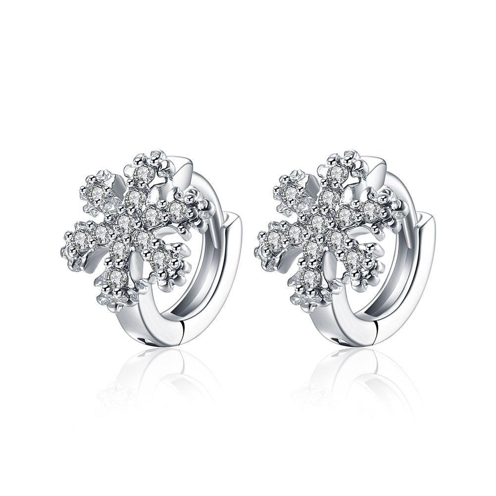 Clip Earrings Cubic Zirconia Women Trendy