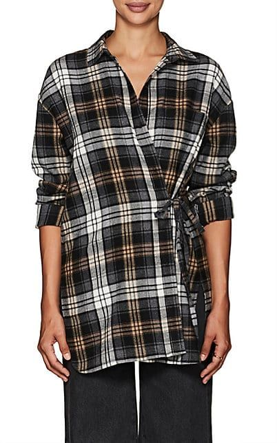Robert Rodriguez Woman Checked Cotton-blend Flannel Shirt Gray Size M Robert Rodriguez Clearance New Arrival 5rmW2