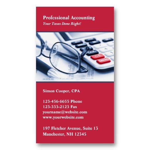 Accountant Business Card Zazzle Com In 2021 Business Cards Business Card Design Accounting