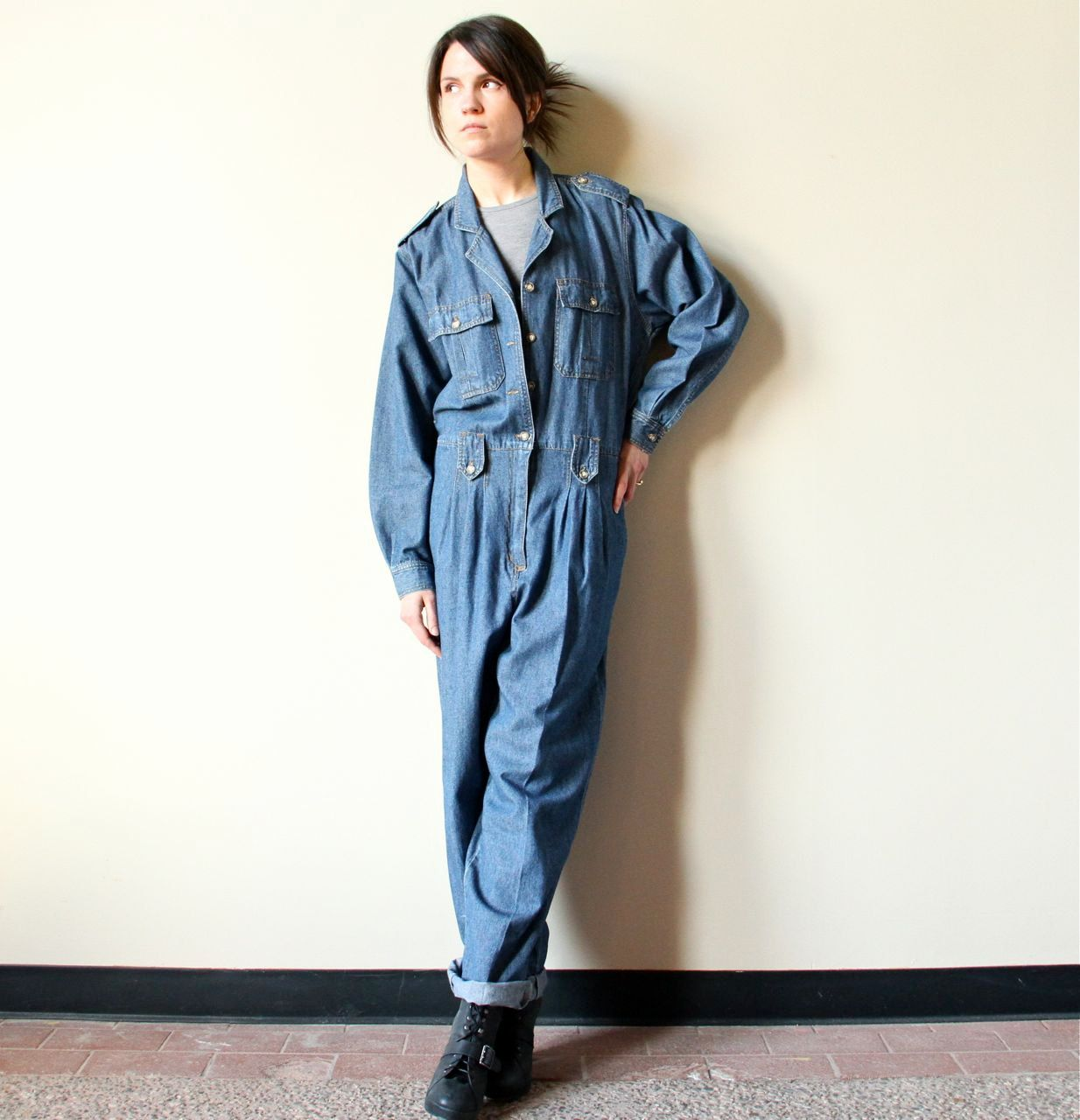 steal work wear women work coveralls jumpsuit fashion on work coveralls id=94088
