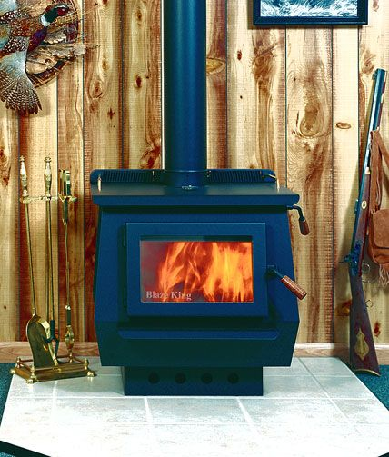 Princess Classic Woodburning Stove By Blaze King Shown With Black