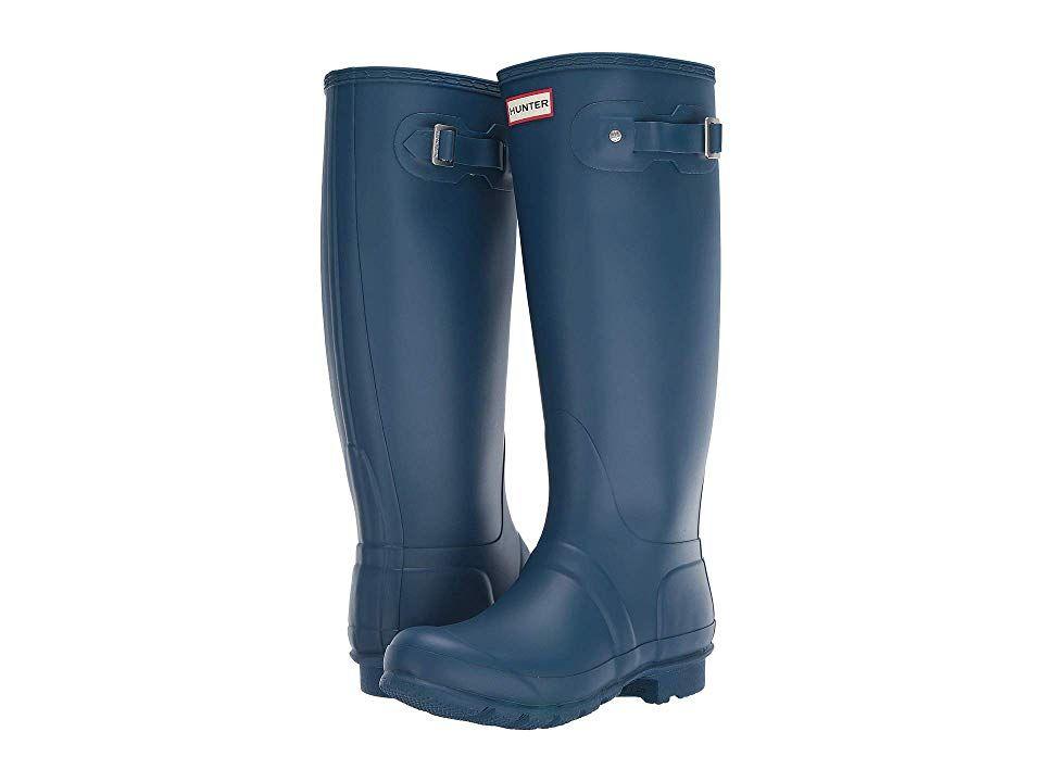 fedc231e017 Hunter Original Tall Wide Leg Rain Boots Women's Rain Boots Wave ...