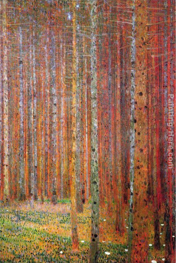 Gustav Klimt Tannenwald Kunst Baumkunst