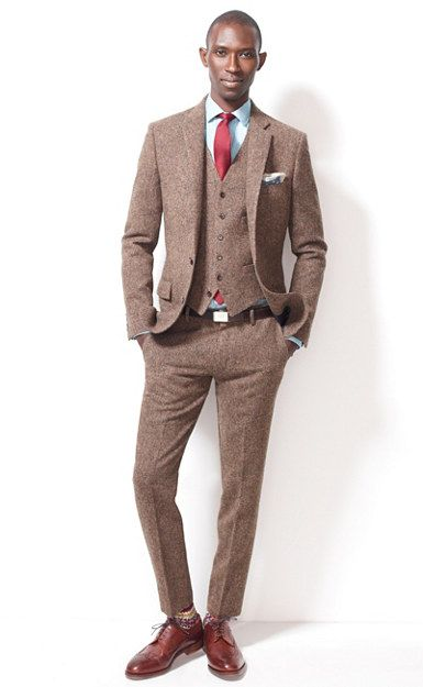 d85b64d1df59 Ludlow suit jacket with double vent in English tweed - J.Crew - The tweed  suit that you will rock every-which-way.