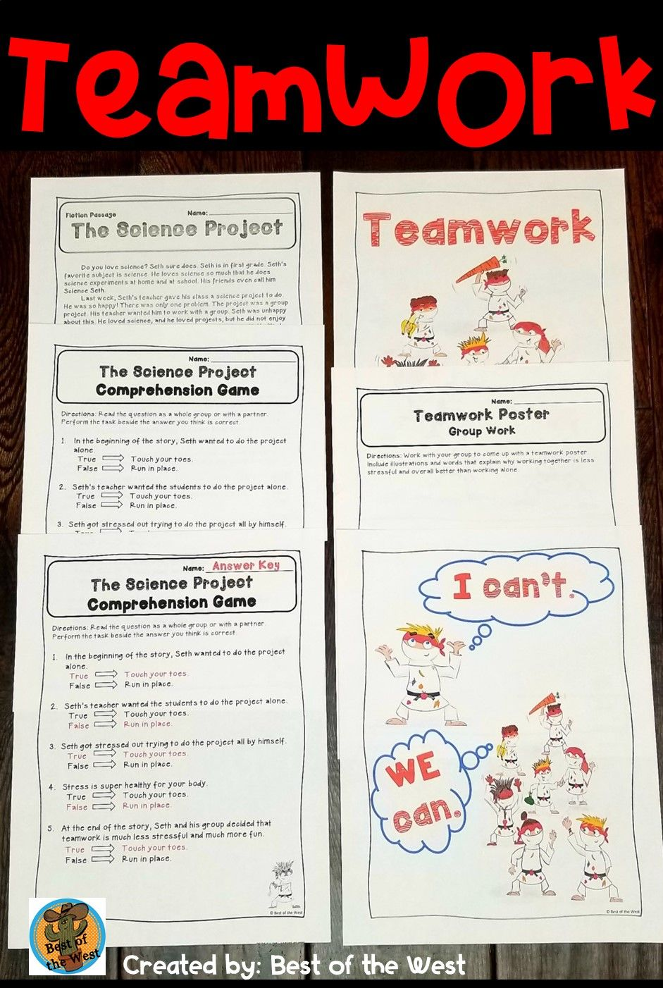 hight resolution of 1st and 2nd Grade Reading Comprehension (Teamwork)   Teamwork poster
