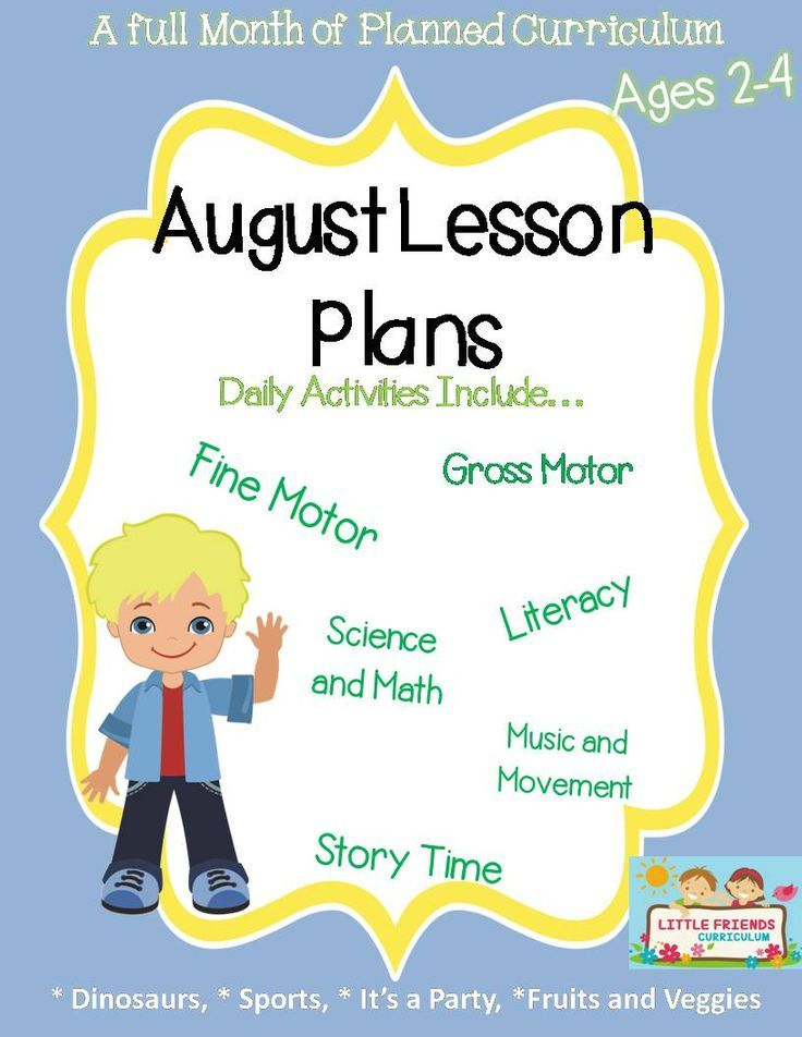 A full month of preschool lesson plans for the month of