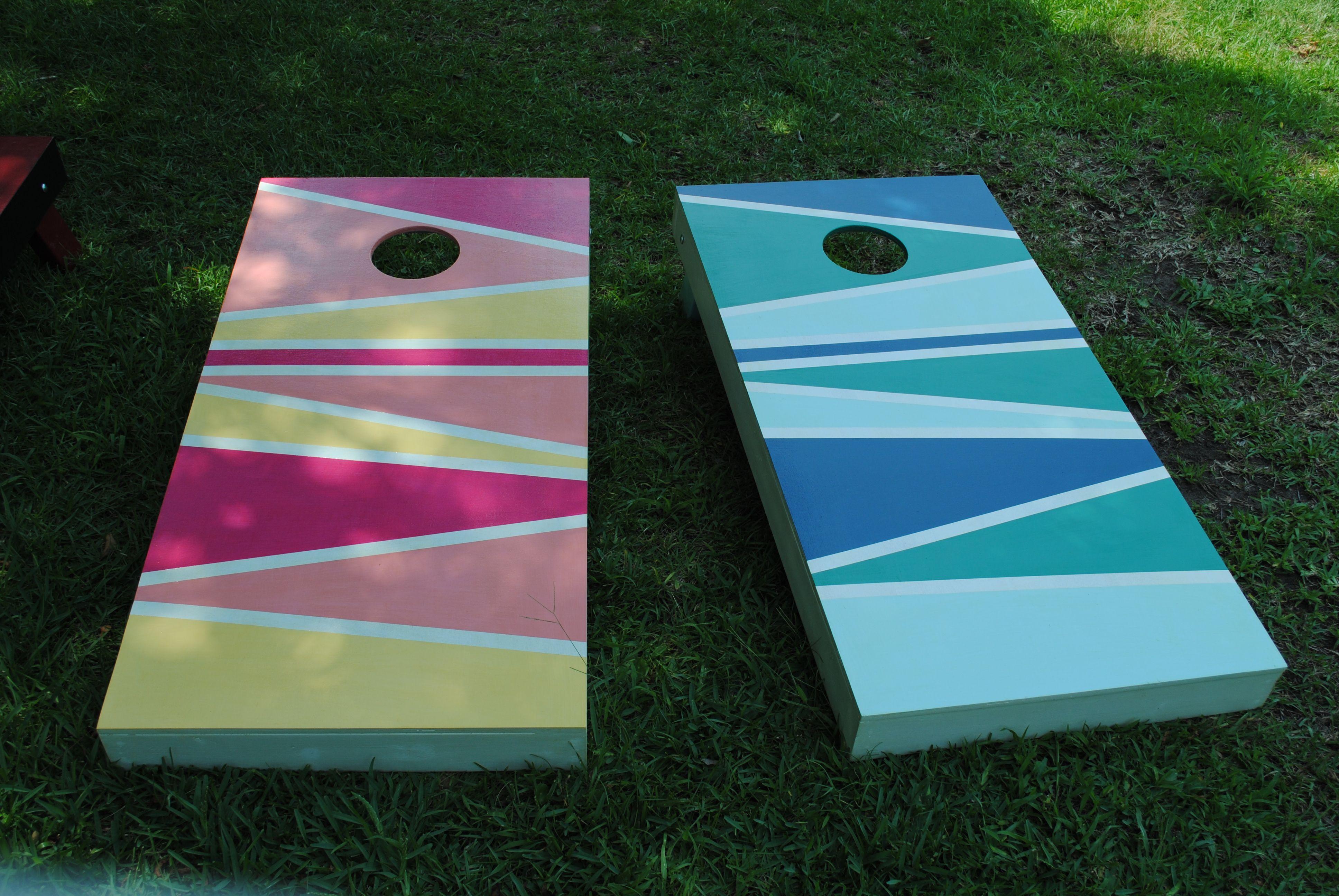 Custom Cornhole Boards That I Recently Made.