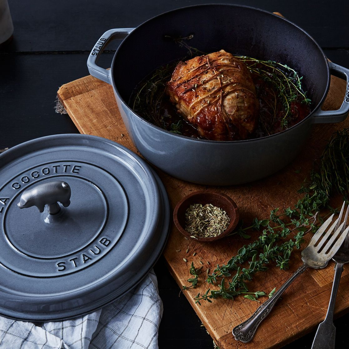 Staub Shallow Wide Round Cocotte 6qt In 2020 Cookware And Bakeware Staub Best Pans